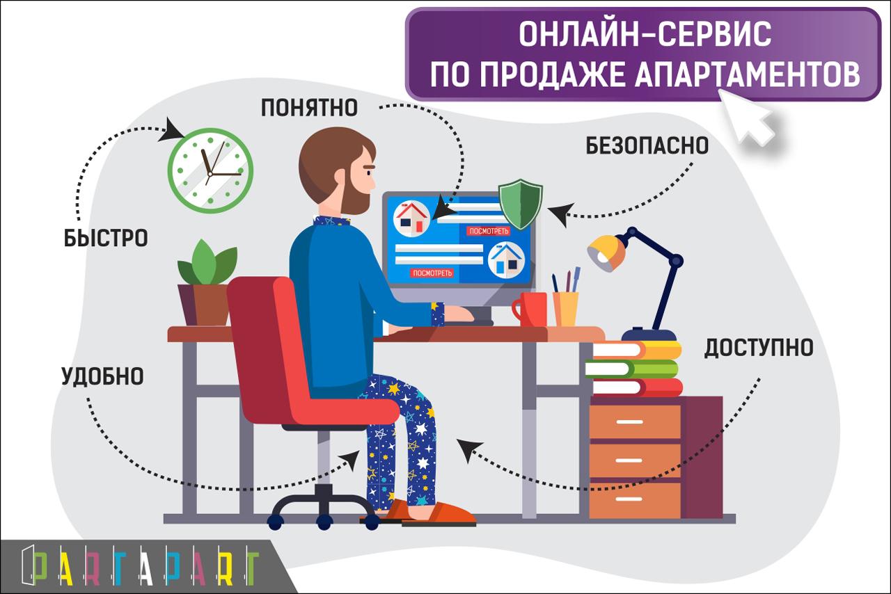 Онлайн-сервис по продаже апартаментов